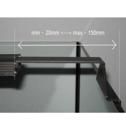 GIESEMANN Aquarienhalter für PULZAR Irridum Metallic 2 Stück