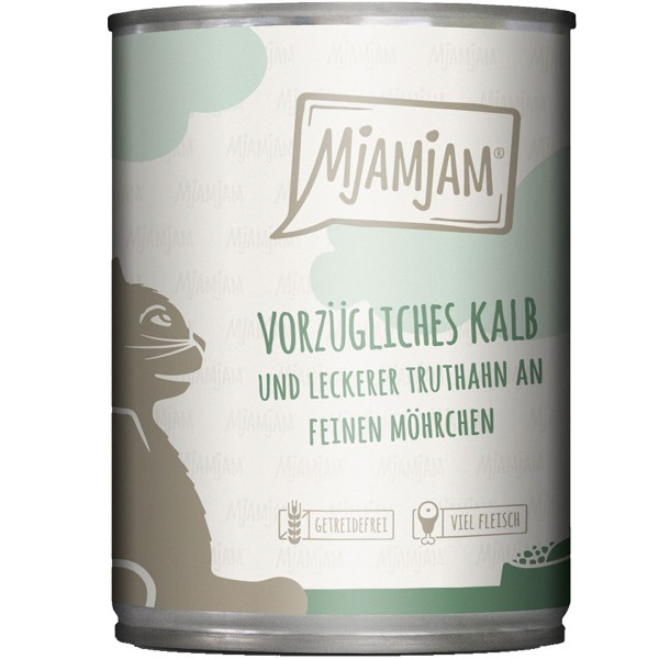 MjAMjAM vorzügliches Kalb&Truthahn an leckeren Möhrchen