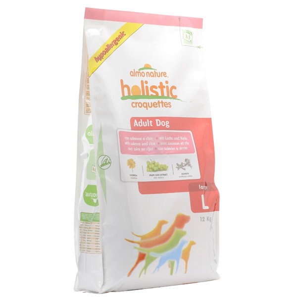 Almo Holistic Dogs Large Adult Lachs+Reis 12kg