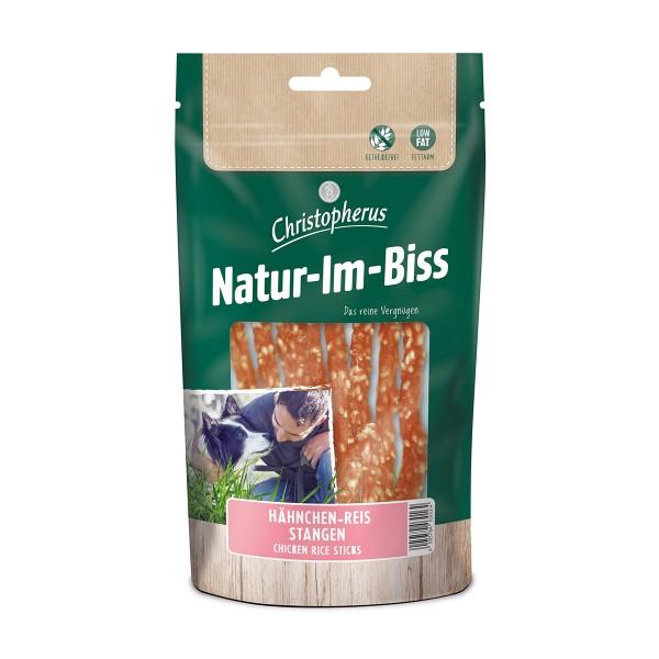Christopherus Hundesnack Natur-Im-Biss Hähnchen-Reis-Stangen 60g