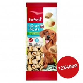 ZooRoyal Hundesnack Kräcker Röllchen mit Huhn, Rind oder Lamm 12x400g