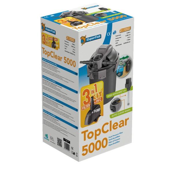 SuperFish TopClear Set Teichdruckfilter inkl. U...