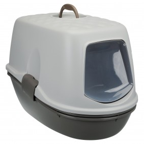 Trixie Katzentoilette Berto Top, mit Trennsystem, 39×42×59cm, taupe/taupe/helltaup
