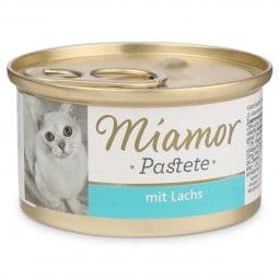 Miamor Nassfutter Katzenzarte Fleischpastete mit Lachs