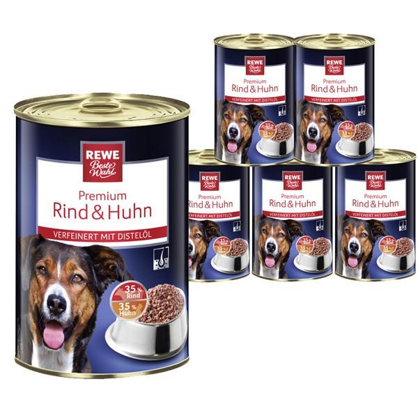 REWE Beste Wahl Hundefutter mit Rind und Huhn