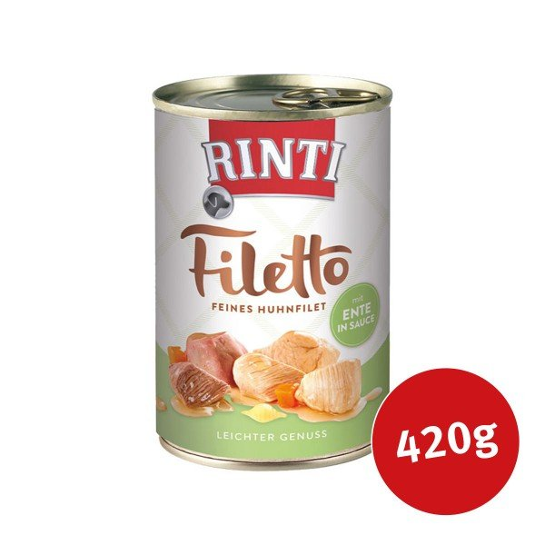 Rinti Hundefutter Filetto Huhn & Ente in Sauce