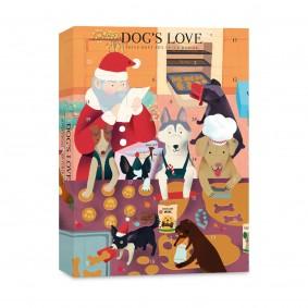 DOG'S LOVE Adventskalender Bio-Leckerli 168g