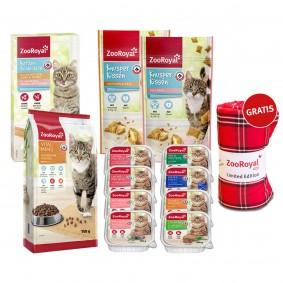 ZooRoyal Nass- und Trockenfutter plus Snacks Probierpaket + Picknickdecke gratis