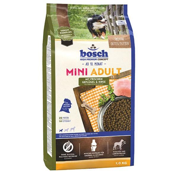 Bosch Hundefutter Mini Adult Geflügel & Hirse
