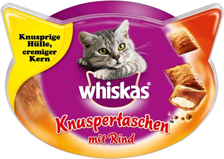 Whiskas Knuspertaschen Rind 60g