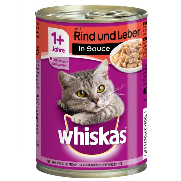 Whiskas Adult 1+ mit Rind & Leber in Sauce