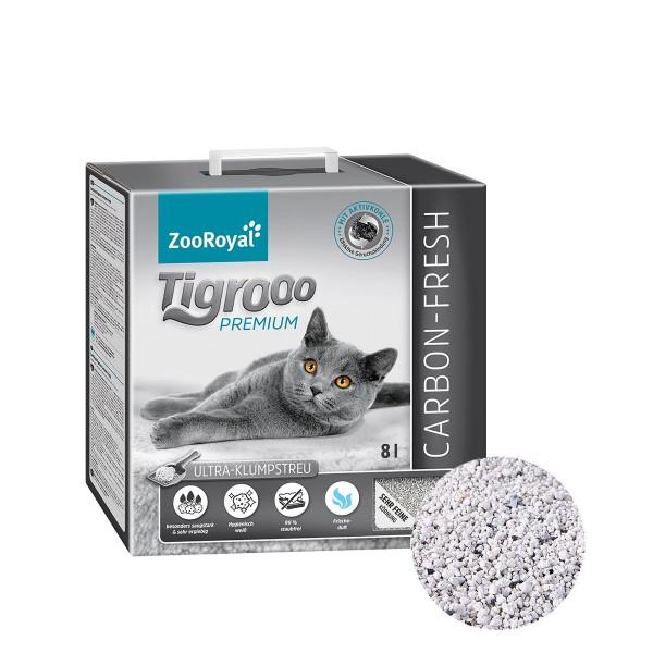 ZooRoyal Tigrooo Katzenstreu Carbon-Fresh 8l