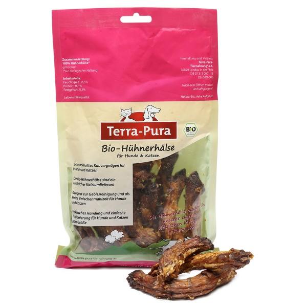 Terra Pura Hundesnack Bio Hühnerhälse, getrocknet 180g