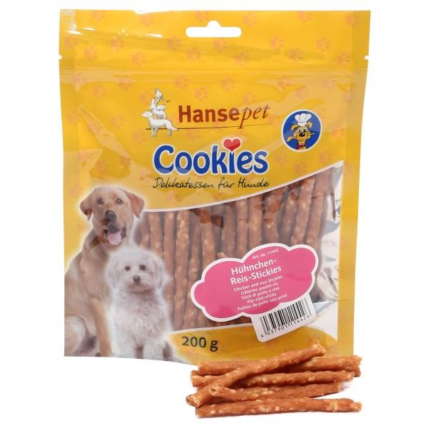 Hansepet Hundesnack Cookies Delikatess-Hühnchen-Reis-Stickies
