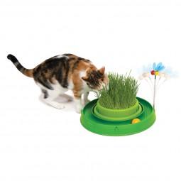 Catit Play 3in1 Circuit Ball Spielzeug mit Katzengras