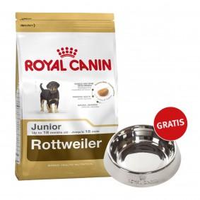 Royal Canin Rottweiler Junior 12kg + Edelstahlnapf silber gratis