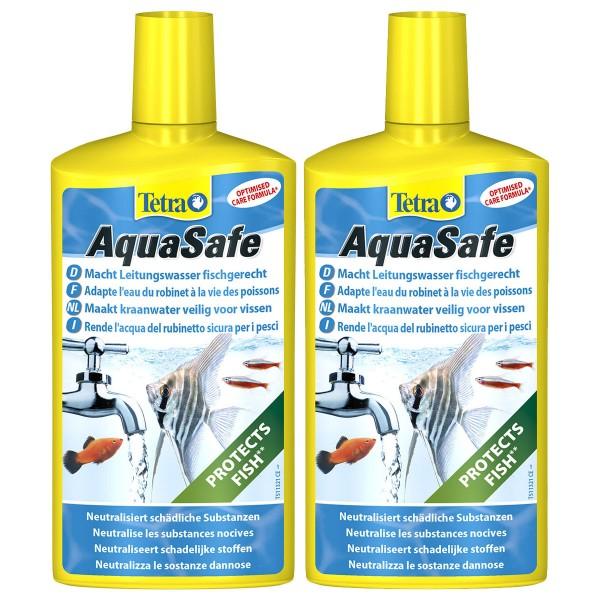 Tetra Wasseraufbereiter AquaSafe 500ml plus 2. Produkt mit 500ml 50% günstiger