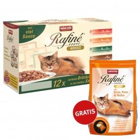 Animonda Katzenfutter Rafiné Soupé No.1 12x100g + Rafiné Cross Adult Ente+Pute+Huhn 400g