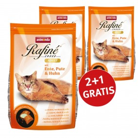 Animonda 2+1 Gratis Rafine Cross Adult Ente, Pute & Huhn 400g