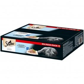 SHEBA Nassfutter Multipack Delikatesse in Gelee Fisch Variation