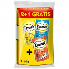 Dreamies Katzensnack 2 plus 1 Gratis