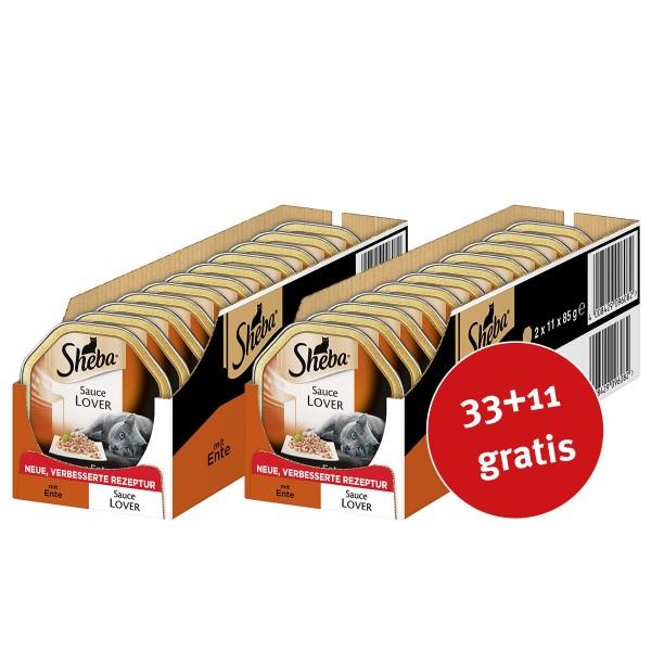 Sheba Katzenfutter Sauce Lover mit Ente 44x85g