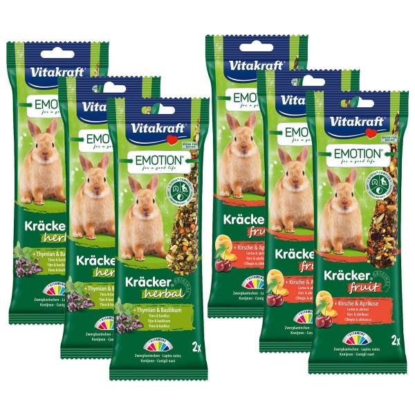Vitakraft Emotion Kräcker Herbal & Fruit Zwergkaninchen 12 Stück