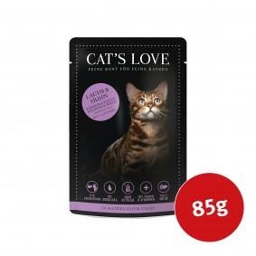 Cat's Love Nassfutter Lachs & Huhn mit Petersilie & Lachsöl