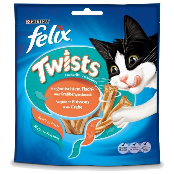 Felix Twists mit gemischtem Fisch und Krabbengeschmack 50g
