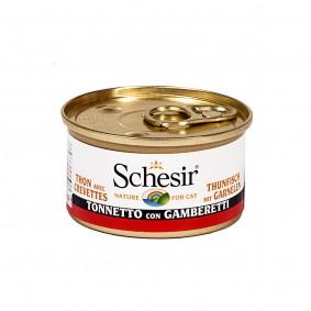 Schesir Katzenfutter in Gelee Thunfisch mit Garnelen