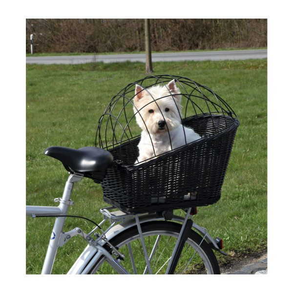 Trixie Fahrradkorb mit Gitter 35×49×55 cm schwarz