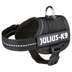 Julius-K9 Powergeschirr schwarz, Größe: Baby 1, Brustumfang  29-36 cm