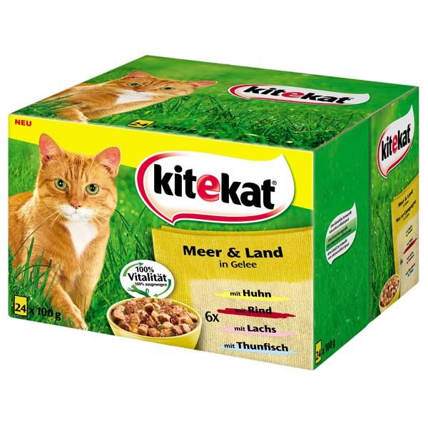 Kitekat Katzenfutter Meer & Land Multipack 24x100g