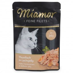 Miamor Feine Filets Thunfisch in Lachsjelly im Frischebeutel