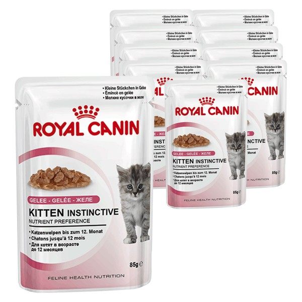 royal canin katzenfutter kitten instinctive in gelee 12 x 85g. Black Bedroom Furniture Sets. Home Design Ideas