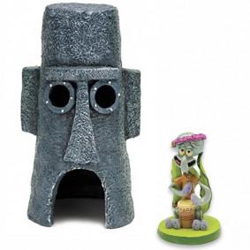 Spongebob Set - Thaddäus mit seinem Haus