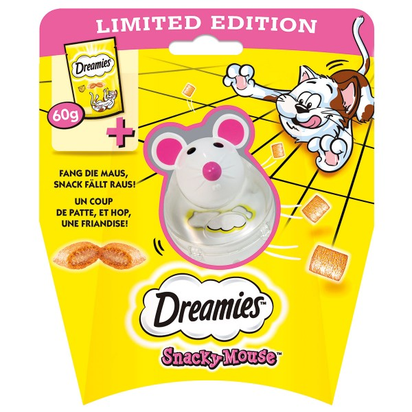 Dreamies Snacky Mouse mit Käsesnacks 60g