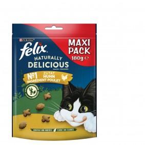 FELIX Naturally Delicious Katzensnack mit Huhn & Katzenminze
