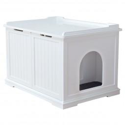 Trixie Katzenhaus für Katzentoilette XL, weiß