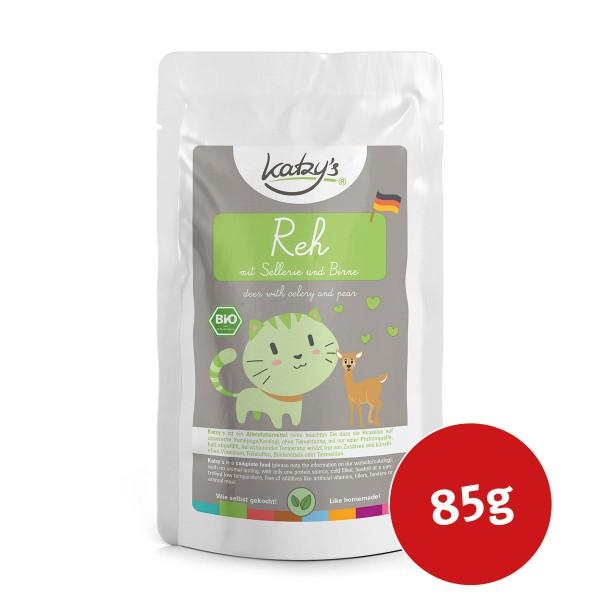 Katzy's Nassfutter Bio Reh mit Sellerie und Birne