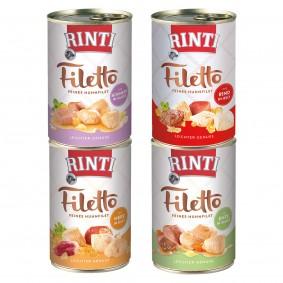 Rinti Filetto Hundefutter Nassfutter 18x420g verschiedene Sorten