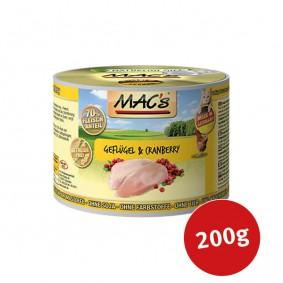 MAC's Cat Katzenfutter Fleischmenü Geflügel & Cranberry