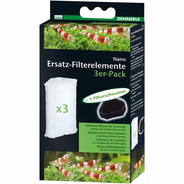 Dennerle Ersatz-Filterelemente für Eckfilter 3er Pack