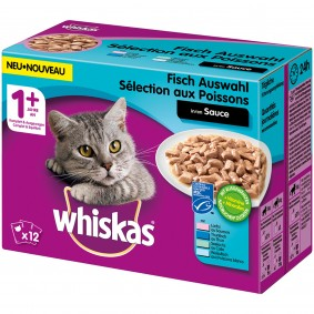 Whiskas Adult 1+ Fischauswahl in Sauce
