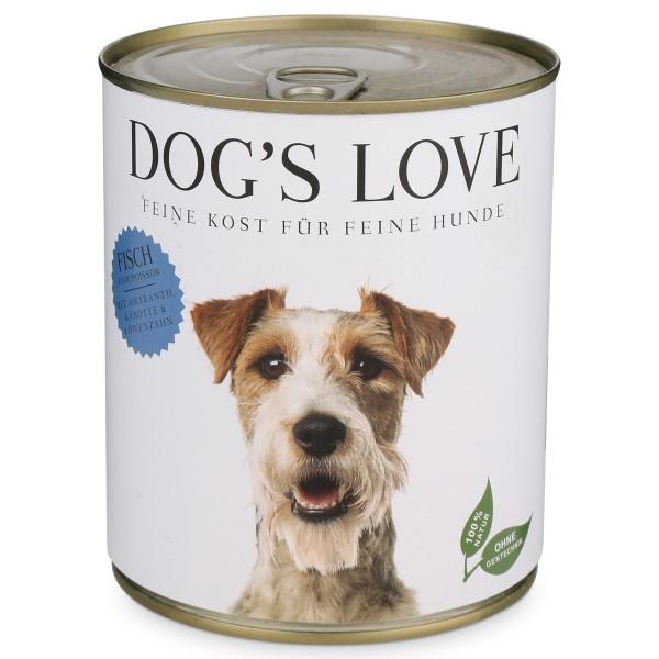 Dog's Love Nassfutter Classic Fisch mit Amaranth, Karotte & Löwenzahn