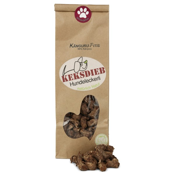 Keksdieb getreidefreie Hundesnacks Känguru-Fitis 125g