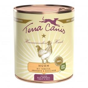 Terra Canis s kuřecím masem, amarantem, rajčaty a bazalkou, 800 g
