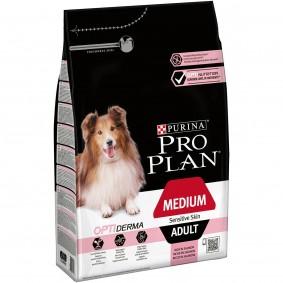 Pro Plan OPTIDERMA Sensitive Skin Medium Adult 4x3kg + 3kg gratis
