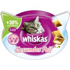 Whiskas Katzensnacks Knuspertaschen Gesundes Fell 50g
