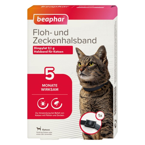 beaphar Floh- und Zeckenhalsband für Katzen